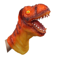 Animal Glove Puppet Hand Dolls Rubber Dinosaur Hand Puppet Story Telling Props Funny toy Simulation Animal Dinosaur Head Doll(China)