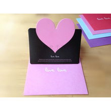 50Pcs/lot Single Cards Exquisite Valentine's Day Greeting Love blessing card Wedding greeting card 7z-cx072