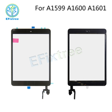 New Touch Panel Assembly with Home Button For iPad mini 3 A1601 A1600 A1599 Digitizer LCD Front Glass Display With Touch Board(China)