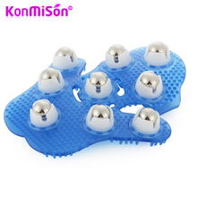 KONMISON Manual Massager Glove Roller Anti Cellulite Health Care Neck Leg Back Massage Relax Body Pain Relief Wheel Massageador(China)