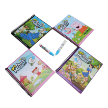 Drawing Toys Book Water Painting Theme Doodle Album Cartoon Paint Learning Coloring Notebook Recyclable Cardboard Refillable Pen(China)
