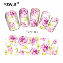 YZWLE 1 Sheet Chic Flower Nail Art Water Decals Transfer Stickers Splendid Water Decals Sticker(YZW-1384)