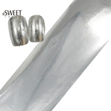 100cmx4cm Nail Art Silver Transfer Foil Beauty Full Wraps Glitter Adhesive Nail Art Stickers Decals Manicure Styling Tool LAJY05(China)