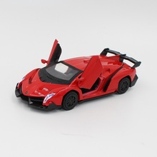 1:36 Hot Sale High Quality Red Alloy Material Super Sport Car Toy Model Collection Classic Bauble Birthday Gift Game Supplies