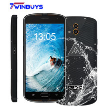 "AGM X1 IP68 Waterproof mobile Phone 5.5"" Qualcom Octa Core 4GB+64GB 5400mAh 13MP Dual Rear Camera fingerprint Rugged Smartphone"