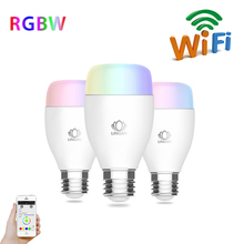 50W Bulb Decorative Dimmable Multicolored Color Timer Wireless Remote Controlled Wifi Smart LED Light Bulb(China)