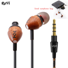 Original Natural maple In-ear Earphones Super Clear Earphone Noise isolating Earbud For iphone 6 Xiaomi MP3 MP4 Free delivery(China)