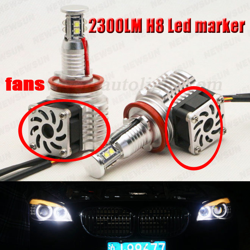 New Upgrade H8 led 80W for BMW 1-series 2008-2012 E82/E87 (128i, 135i, M) canbus free led marker head light with fans free ship<br><br>Aliexpress