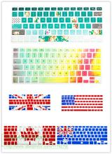 2016 Picture embedded Silicone Keyboard Cover For Macbook Air 13.3 Pro 13 15 with Retina Protector for Mac book keyboard(China)