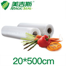 MAGIC SEAL 20x500cm Vacuum Preservation Storage Bags Roll Kitchen Vacuum Sealer Transparent Food Freshness Maintenance Packaging(China)