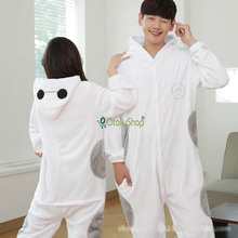 Big Hero Cute Baymax animal Pajamas Winter warm Sleepwear robe cartoon pijamas unisex adults flannel Onesies Cosplay Costumes