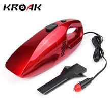KROAK Mini Car Vacuum Cleaner 12V 75W Portable Handheld Wet Dry Dual-use Super Suction Dust Cleaner Catcher Collector(China)