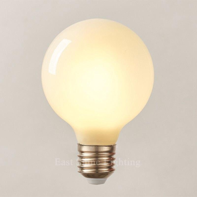 2016 Milk White LED Bulbs Light G80 G95 G125 E27 Retro For Filament Light Vintage Globe Lamp Glass  Antique Led Bulb For Home (5)_