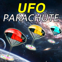 LED Flashing UFO Parachute Toy Hand Throwing Parachute Speed Running Soldier Light-up Toys Kids Children Outdoor Games Play