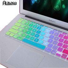 Alabasta US Ver. Colorful Silicone Rainbow keyboard Cover For Macbook Air 11 13 Pro 13 15 Pro 13 15 Retina For Mac Laptop Skin