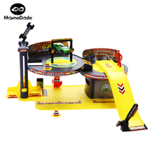 DIY Parking Lot For Children Assemble 4S Repair Center Car Model Flexible Track Toy For Boys Educational Toys For Children(China)