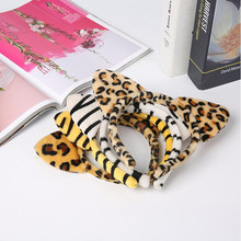Children Girls Animal Headband Tiger Leopard Zebra Ear Hair Band Headwear Carnival Party Kids Hair Accessories New Year