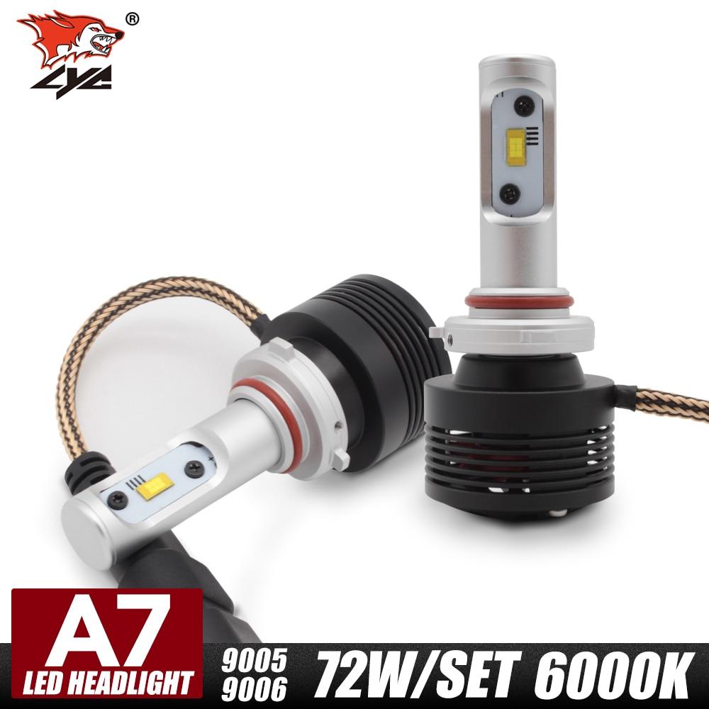 LYC H7 H1 H11 H8 9005 9006 1 Pair Led Car Bulbs Bulb Led Car Led Light Bulbs Automotive Headlight Led 9005 9006 6000K<br><br>Aliexpress