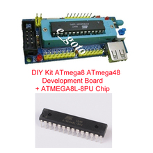 DIY Kits ATmega8 ATmega48 AVR Minimum System Development Board Electronic Suite + ATMEGA8L-8PU ATMEGA8L DIP-28  MCU AVR Chip