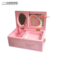 JUH Home Accessories Technology Jewelry Box Birthday Gift Pink Music Box Mechanism Creative Presents For Valentine's Day(China)