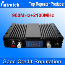 Lintratek 73dBi AGC MGC GSM900 3G2100 Dual Band Signal Repeater 3G W-CDMA UMTS 2100MHz + GSM 900Mhz Mobile Phone Signal Booster#