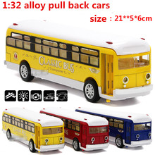 1:32 alloy pull back cars,high simulation school buses,metal casting,toy vehicles,musical & flashing,free shipping(China)