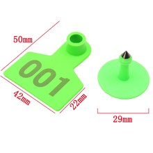 Ear Tag 1-100 Number Animal Green Plastic Livestock Tag Marked Identificationd 100 Pieces Home Farm Animal for Goat Sheep Pig