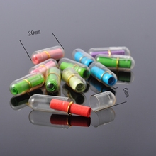 30PCs Mixed Creative Love Letter Capsule Mini Gift Boxes Wish Bottle With Paper Scrip Secret Words For Lovers PVC Box 20x6mm
