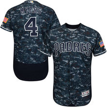 MLB Men's San Diego Padres Wil Myers Baseball Camo Alternate Authentic Collection Flex Base Player Jersey(China)