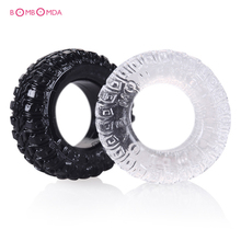 Buy Soft Silicone Penis Rings Cock Rings Delay Ejaculation Penis Extender Male Chastity Penis Sleeve Ring Sex Toys Man 2 Psc/Set