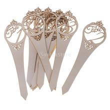 10pcs /Set Wooden Number 1-20 Hollow Out Table Number On Sticks Wedding Table Decor