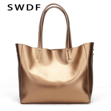 SWDF Special Offer 2017 Fashion 100% Cowhide Women High-End Luxury Leather Handbags Shoulder Bags Top-handle Bags Female Bag(China)