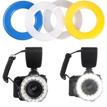 RF-600D Maro Ring Flash Led Light Photography Lighting for Canon Nikon Olympus Sony Cameras 18pcs LED Ring Flash Light