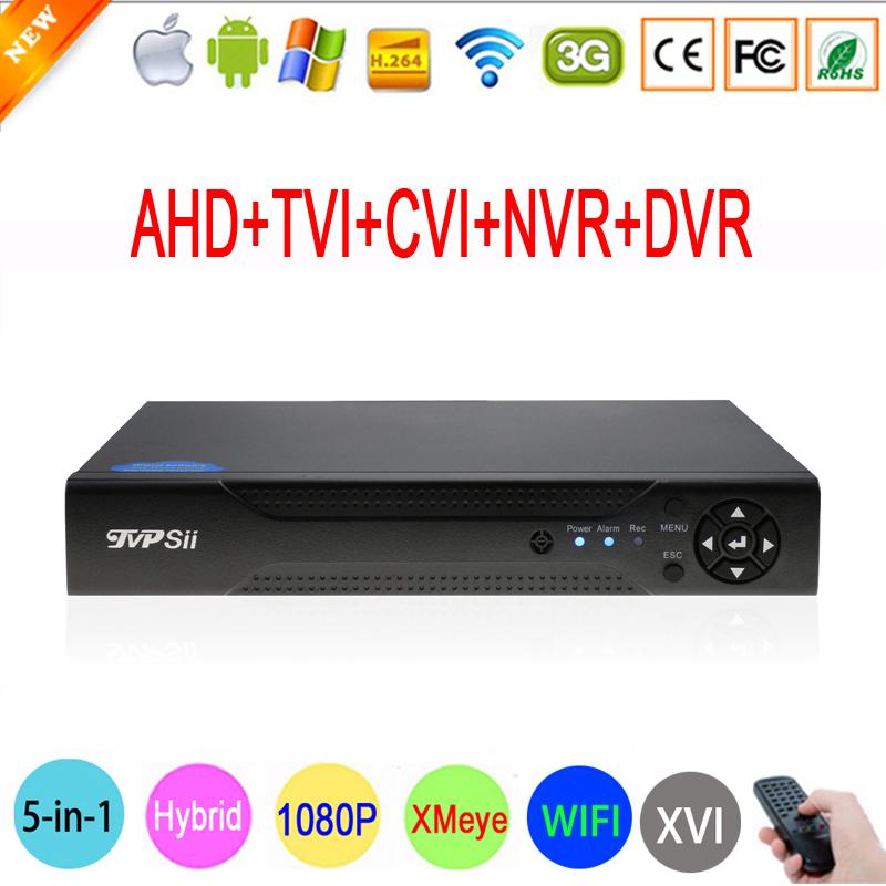 N-eye App 1080P 2mp CCTV Camera 1080N 8CH Surveillance Video Recorder Hybrid 5 in 1 WIFI Onvif NVR TVI CVI AHD DVR Free Shpping