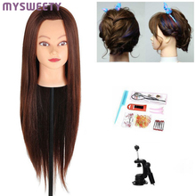 Professional 75cm Hairdressing Dolls Head Female Mannequin Hairdressing Styling Training Practice Head Mannequin Head(China)
