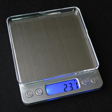 Silver I-2000 LCD Backlight Digital Electronic Fruit/Food Scale 3KG/0.1g Transparent Tray Postal/Kitchen Count Balance Weight