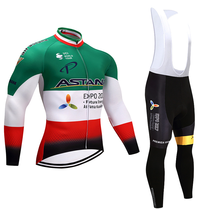 2018 Pro Team Winter Cycling Jersey Set Long Sleeve Ropa Ciclismo Invierno hombre Thermal Fleece Cycling Wear MTB Bike Clothing<br>