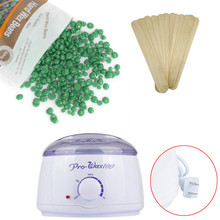Tea tree flavor US plug Hair Removal Hot Paraffin Wax Warmer Heater Pot Machine Depilatory Hard Wax Bean 100g wax machine#923(China)