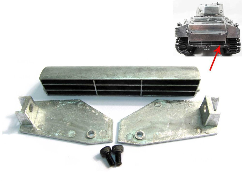 1:16 Metal Exhaust Diffuser  for MATO 1230 all / complete metal sherman M4A3(75)W rc tank<br><br>Aliexpress