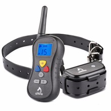 PATPET Waterproof Remote Dog Training Collar Vibration Shock and Tone  with Backlight LCD for Large Medium Small Dogs