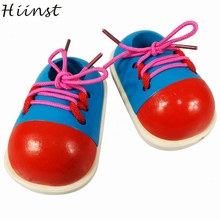 HIINST MallToy 2017 New Wooden Toys Baby School Shoelaces Of Practical Tops Shoes Drop Shipping Aug24(China)