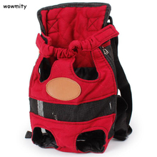 Fashion Dog Carrier Red Travel Dog Backpack Breathable Soft Pet Bags Shoulder Pet Puppy Carrier Pet Supplies(China)