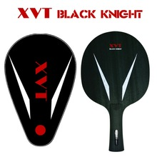 New XVT Black Knight 7 Carbon Fiber Table Tennis Blade/ ping pong blade/ table tennis bat with Full Cover Free shipping(China)