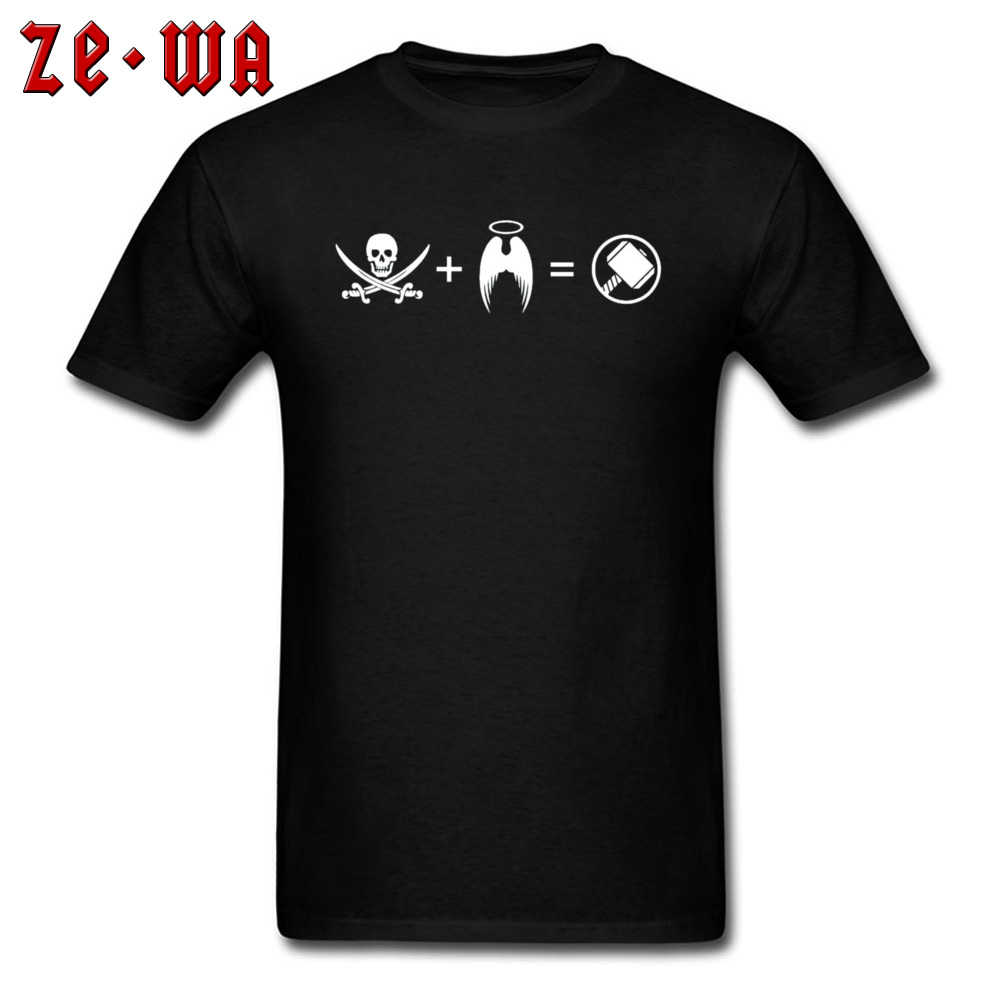 Men T-shirts Custom Classic T Shirt 100% Cotton Crew Neck Short Sleeve Casual Sweatshirts Summer Free Shipping Its Like A Pirate Had A Baby With An Angel black