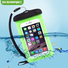 JK51 Universal Waterproof Phone Pouch Bag Cases For iPhone 5s SE 6s Plus Swimming Water Proof Cover For iPhone 7 Plus 8 Plus X(China)