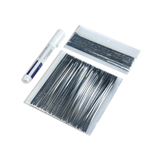 Solar Cell Wire Strip Kit 20m Tabbing Wire PV Ribbons 2m Bus Bar Wire Tape 1Pcs Flux Pen For DIY Solar Panel Solder(China)