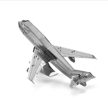 Puzzle 3D Metal Boeing 747 aircraft Model Jigsaw Brain Puzles Graf Zeppelin aircraft carrier, the Cessna Skyhawk, Wright Flyer(China)