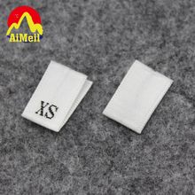 Customized woven Size labels/ number clothing labels / garment label/ Care labels Free Design & Free Shipping(China)