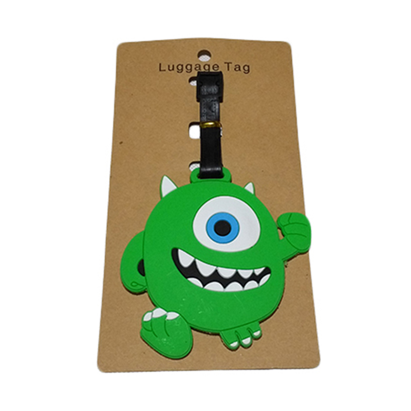Travel Accessories Luggage Tag Suitcase Cartoon Style Cute Minions Silicone Tags Portable Travel Label Bag Tag Obag Accessories (11)