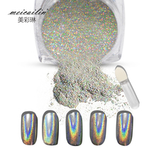 New 1g/Box Shiny Laser Nail Holographic Powder Rainbow Nails Glitter Dust Chrome Pigment Manicure Pigments Nails Art Decorations(China)